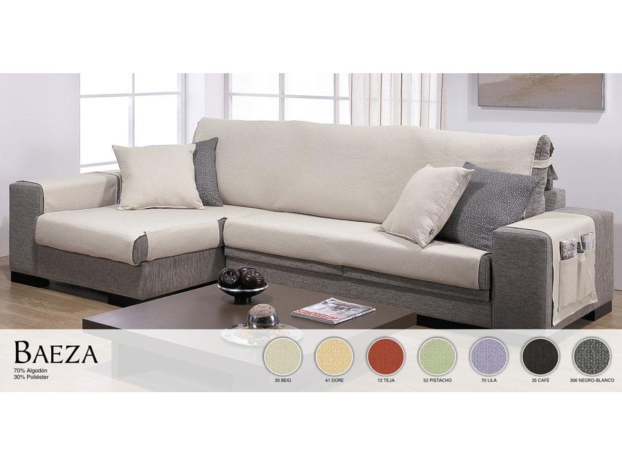 Funda cubre sof chaise longue salvasofa tienda online - Fundas para sofas con chaise longue ...