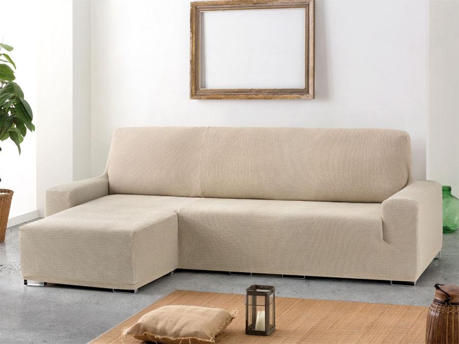 Funda sof chaise longue ajustable cora tienda online - Funda sofa chaise longue ...