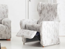 Funda sofá relax Mariposas