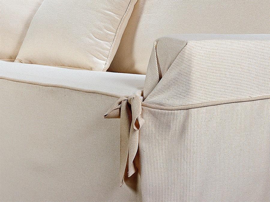 Funda s fa con lazos puntilla fundas de sof universales - Fundas de sofa con lazos ...