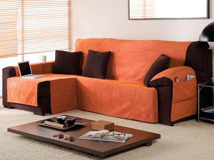Funda sof chaise longue affordable monserrat cubre sofa chaise longue reversible funda sofa - Fundas para cheslong ...