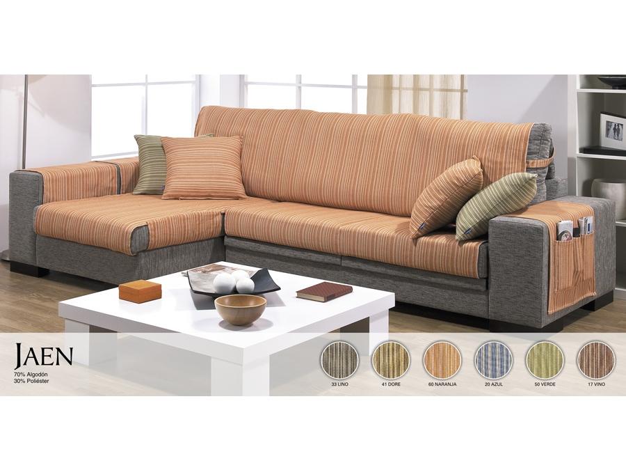 Funda sof chaise longue tienda online nuevos tejidos - Funda para sofa chaise longue ...