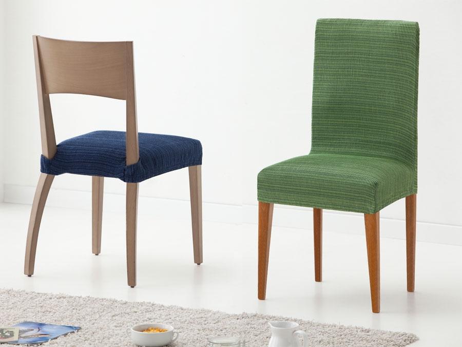 Funda de silla asiento y respaldo rustica tienda online fundas silla - Fundas elasticas para sillas ...