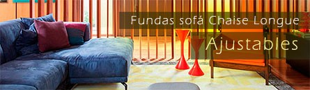Fundas de sofá chaise longue Ajustables